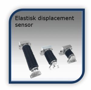Elastisk displacement sensor